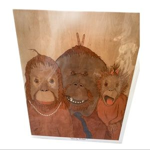 Limited edition signed and number Monkeys portrait